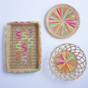 Design Improvised Yarn Embellished Baskets