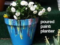 Dollar Store Crafts Pour-Painted Planter