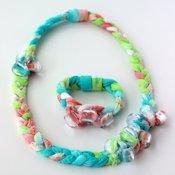 Dollar Store Crafts Tie Dyed Fabric Jewelry