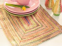 Drops Colourful Knitted Placemat