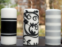 Easy Paper Crafts Embellish Plain Candles