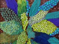 Eleanor Pigman Bead Embroidered Leaves