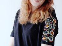 Envato Tuts+ Francesca Stone Bead Embroidered T-Shirt