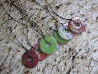 Every Creative Endeavor Glazed Washer Necklace