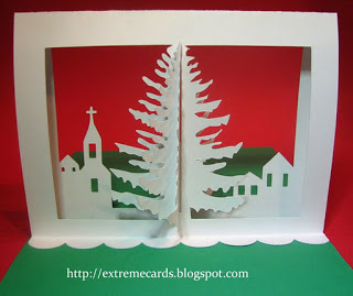 Extreme Cards and Papercrafting Christmas Tree Pop Up Card