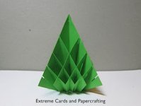 Extreme Cards and Papercrafting Christmas Tree Popup Card