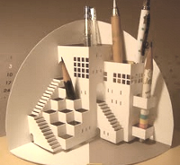 Extreme Cards and Papercrafting Origamic Architecture Pencil Holder