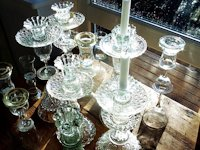 Findings of Guus Oosterbaan Candle Holders from Old Glassware