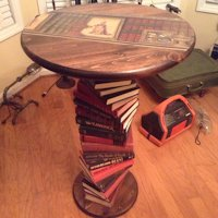 Funkadelic Relic Upcycling Book Table