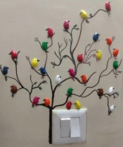 Goods Home Design Wall Art from Pistachio Shell Birds