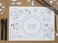 Handmade Charlotte Coloring Placemats