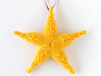Hands Occupied Knit Star Ornament