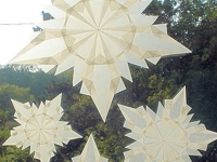 Harvest Moon by Hand Window Snowflakes