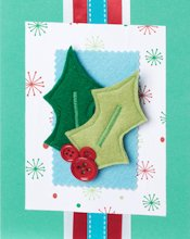 Hobbycraft Applique Christmas Card