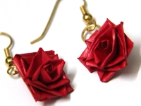 Honeys Quilling Paper Quilling Rose Earrings