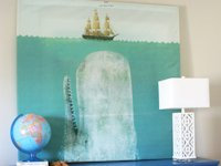 House of Jade Interiors Wall Art from Shower Curtain