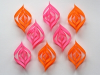 How About Orange Colourful Paper Ornaments