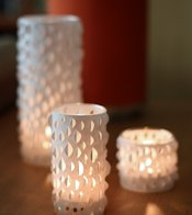 How About Orange Paper Cut Votive