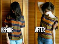 How To Instructions No Sew T-shirt Restyling