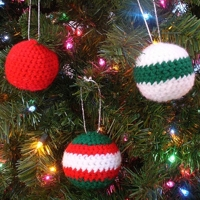Inner Child Crochet Crocheted Christmas Ball Ornament