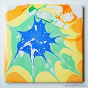 Inner Child Fun Nail Polish Marbled Coaster