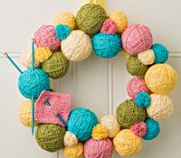 JOANN Yarn Ball Wreath