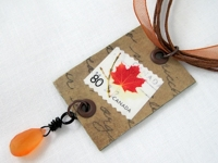 Jewelry Making Journal Postage Stamp Jewelry