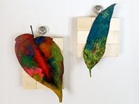 Journey into Creativity Colourful Leaf Wall Art