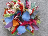 Journey into Creativity Fabric Wreath Brooch
