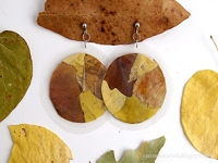 Journey into Creativity Leaf Earrings