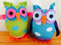Kathys Art Project Ideas No Sew Sock Owls