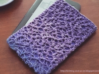 Knitting and so on E-Book Sleeve with Random Lace