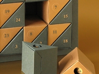 Leporello Triangle Boxes Advent Calendar