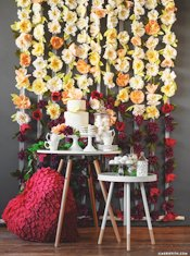 Lia Griffith Crepe Flower Wall Decoration