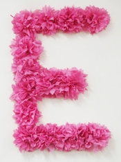 Liddy B and me Tissue Paper Monogram