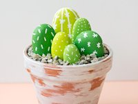 Like The Cheese Painted Rock Cacti