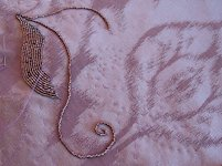 Lilacs and Lace Transfer a Beading Pattern to Fabric
