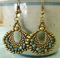 Lindas Crafty Inspirations Peyote Fan Earrings
