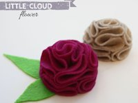 Lines Across Felt Flower Brooch
