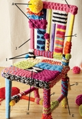 Lion Brand Yarn Bomb a Chair