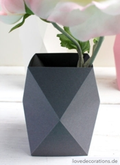 Love Decorations Origami Vase