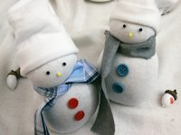 Love Decorations Socks Snowman