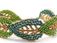 Luulla SimpleBeadPatterns Beaded Leaf Bracelet
