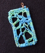 MIXED MEDIA Needle Weaving Pendant