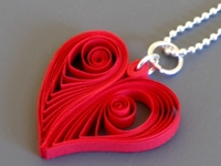 Make Quilling Heart Pendant