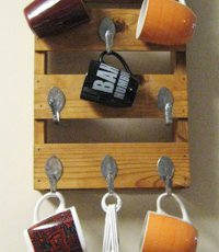 Make Something Mondays  Upcycled Mug Rack