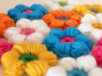Mamachee Puff Stitch Crochet Flower