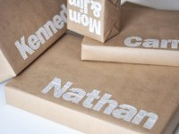 Man Made DIY Typographic Gift Wrap