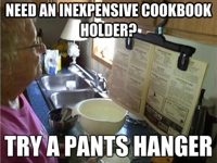 Manteresting Cookbook Holder