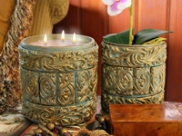 Mark Montano Clay Baroque Candle